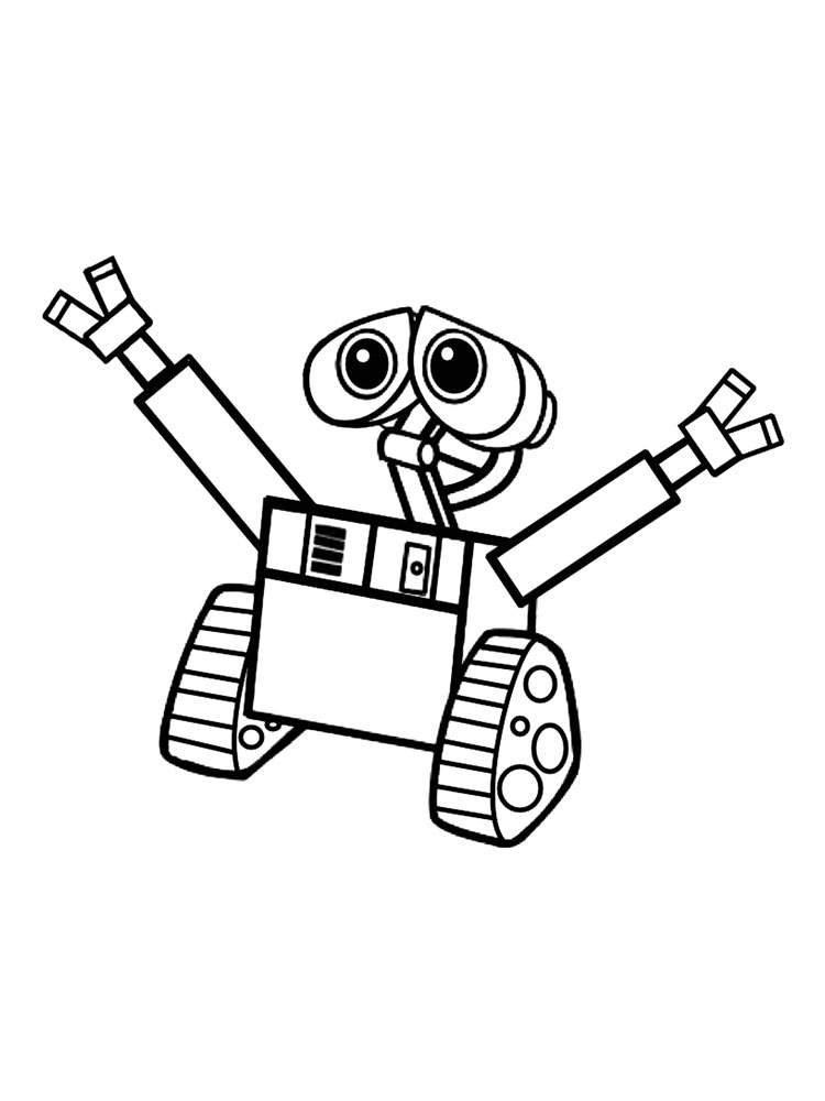 Wall-E coloring pages. Download and print Wall-E coloring