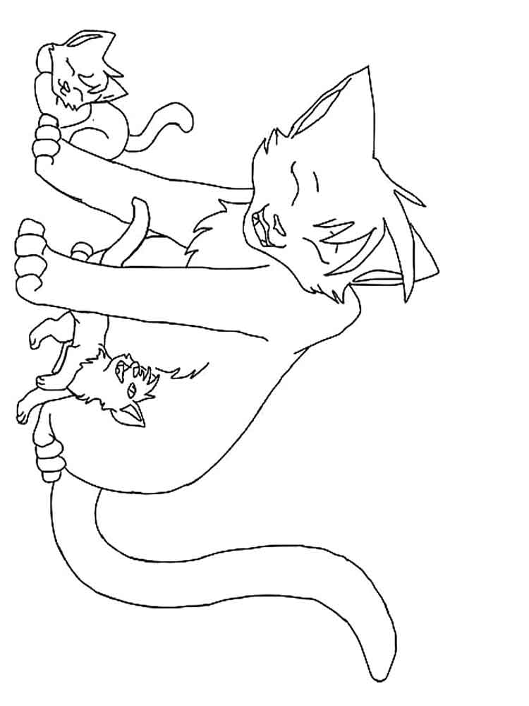 Free Warrior Cats coloring pages. Download and print