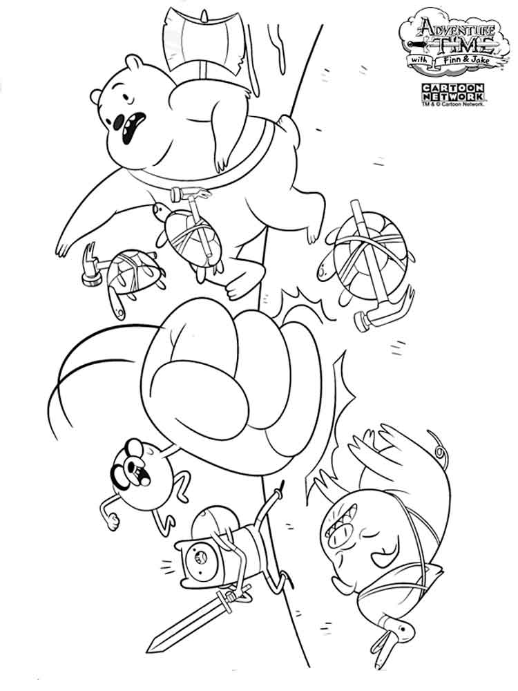 Adventure time coloring pages. Download and print