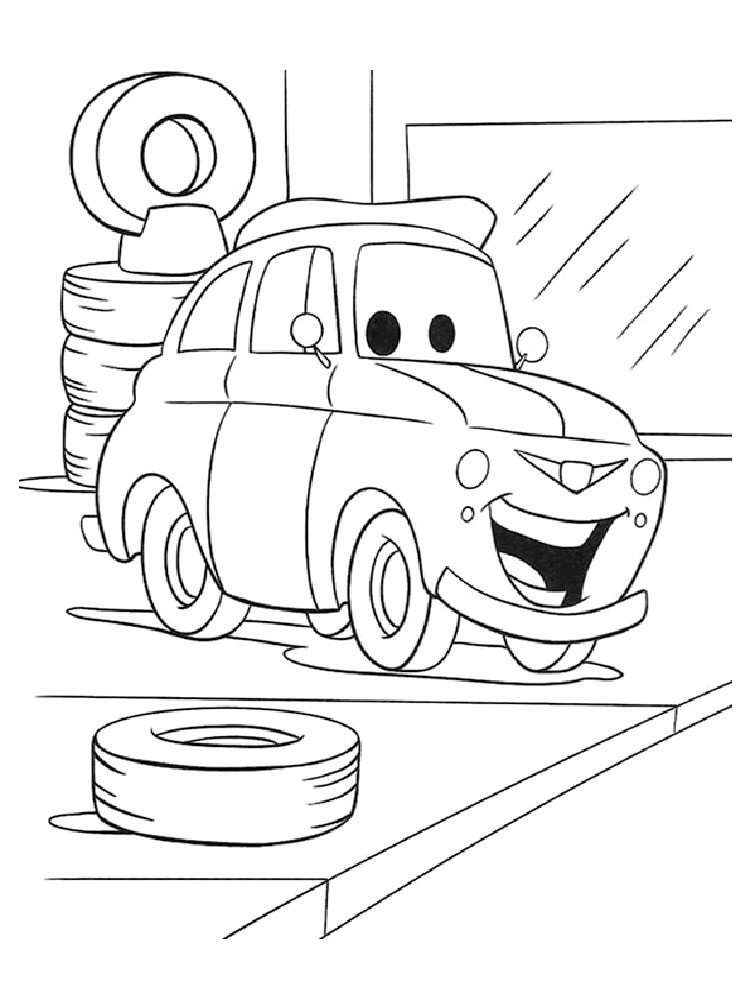 Cars and Cars 2 coloring pages. Download and print Cars