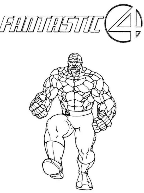 fantastic four coloring pages # 52