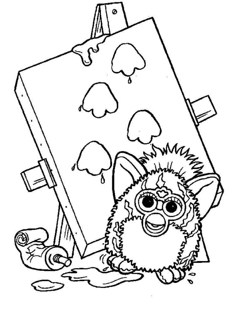 Furby coloring pages. Download and print Furby coloring pages.