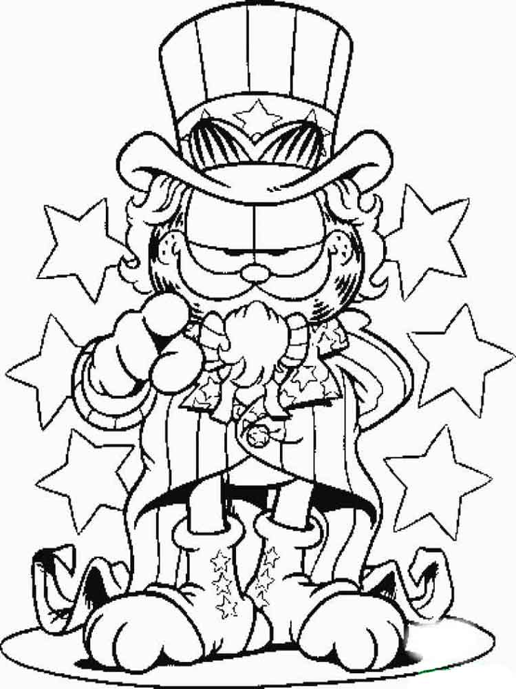 Garfield coloring pages. Download and print Garfield