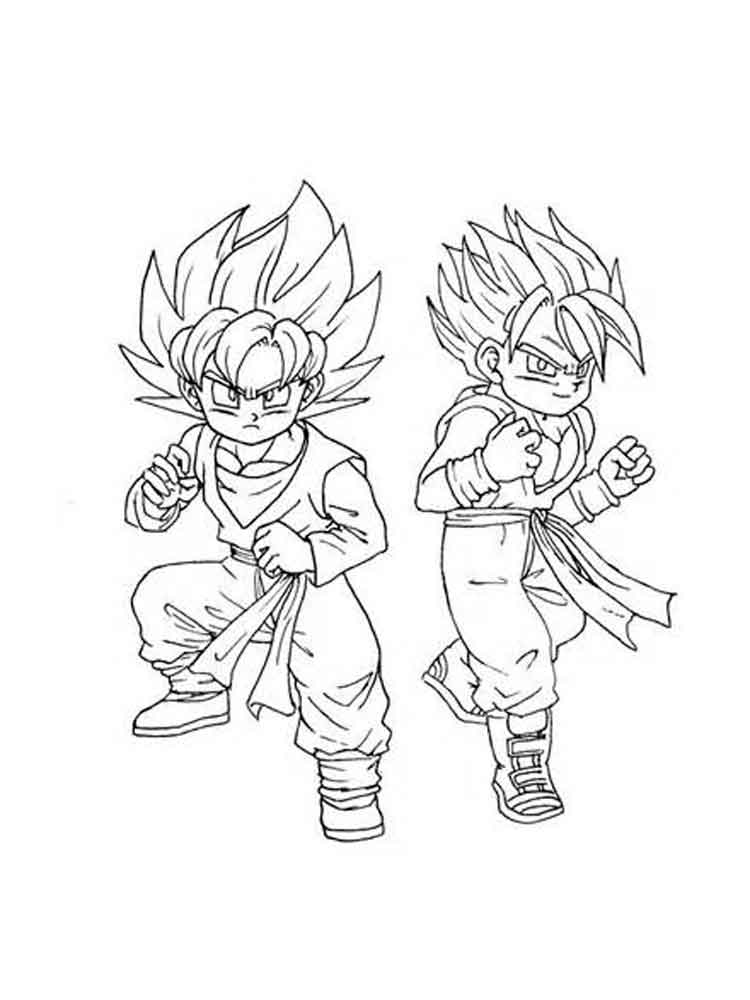 Dragon Ball Z Coloring Pages Super Saiyan 5