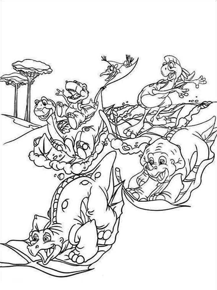 Land Before Time coloring pages. Free Printable Land