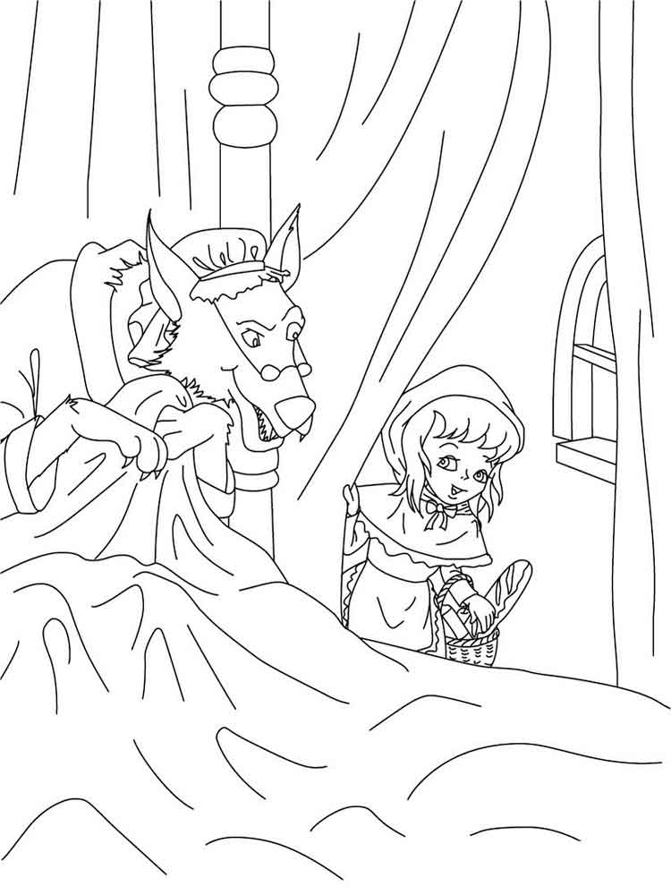 Riding Hood Coloring Page Coloring Coloring Pages