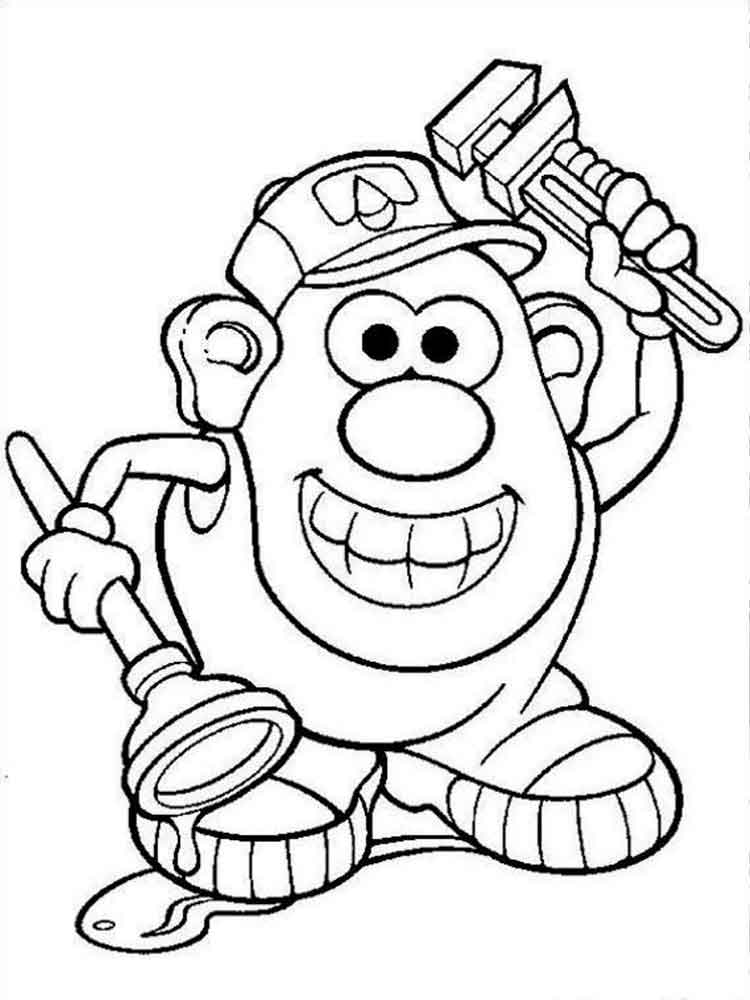 Coloring Page Mr Potato Head Kids