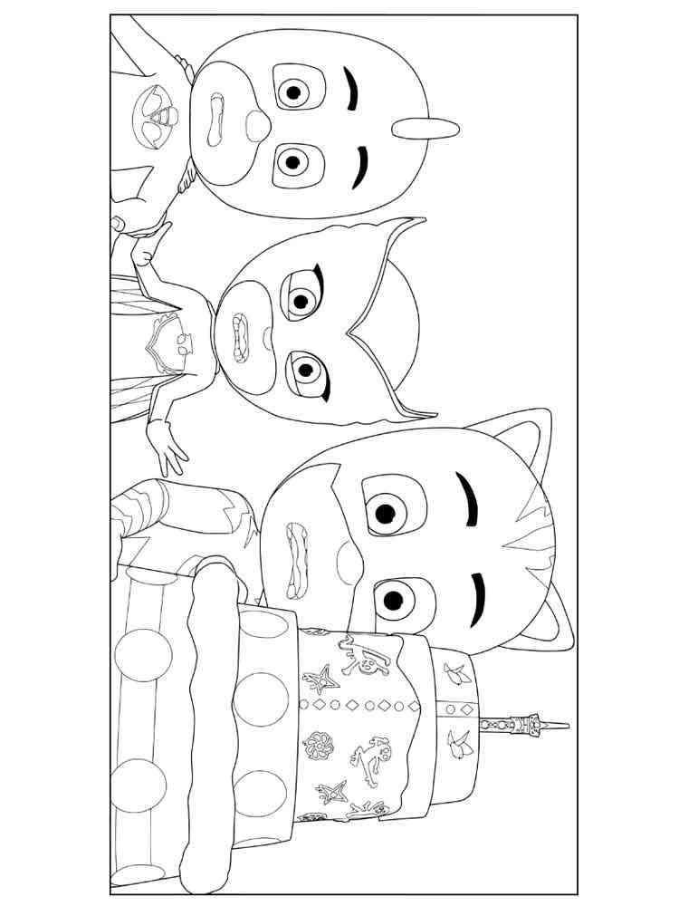 PJ Masks coloring pages. Free Printable PJ Masks coloring