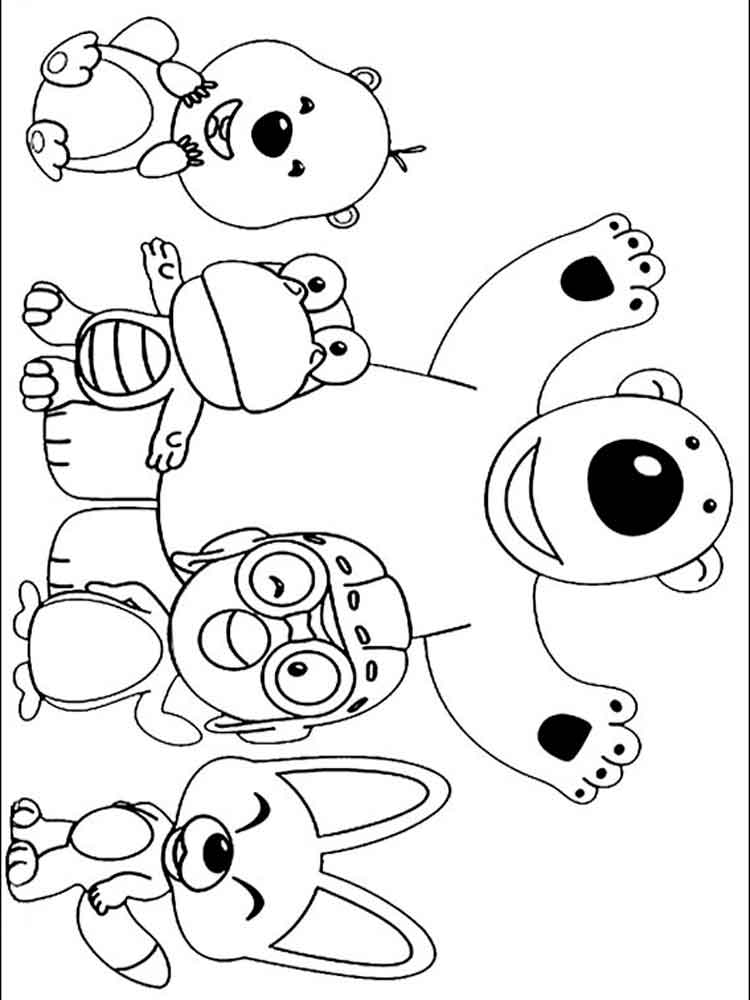 Pororo Coloring Pages Free Printable