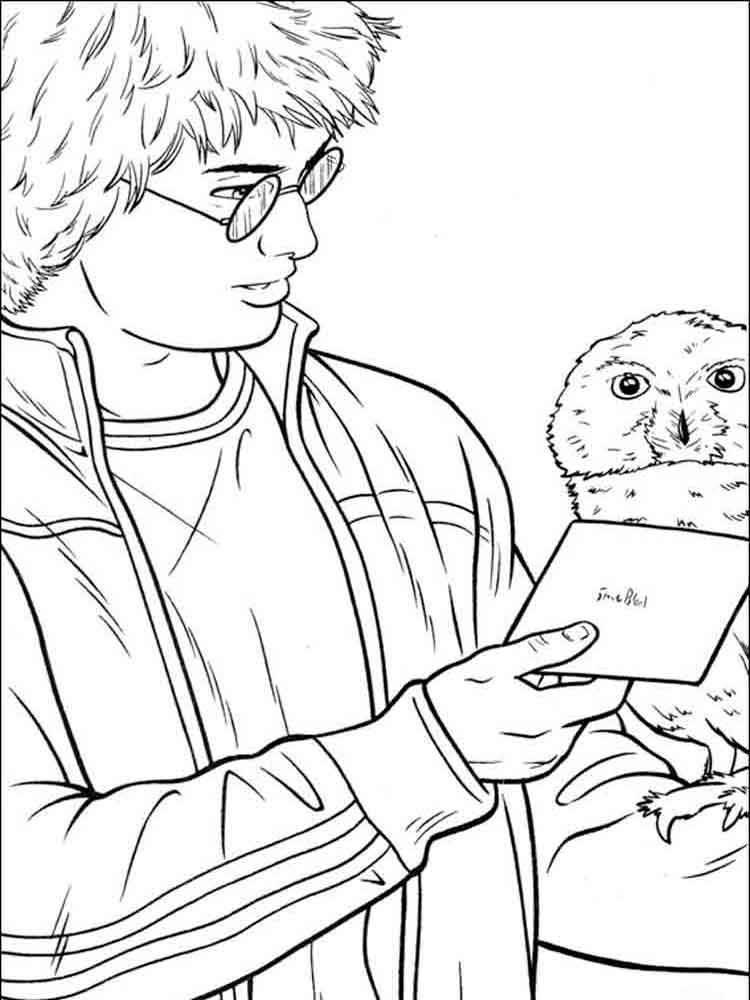 Harry Potter coloring pages. Download and print Harry