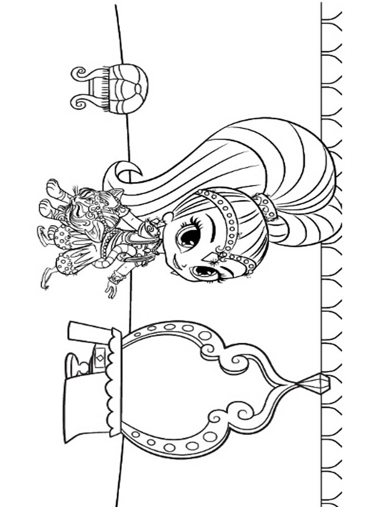 Shimmer And Shine Printable Coloring Pages Coloring Pages