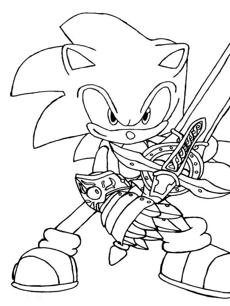 Free printable Sonic The Hedgehog coloring pages.