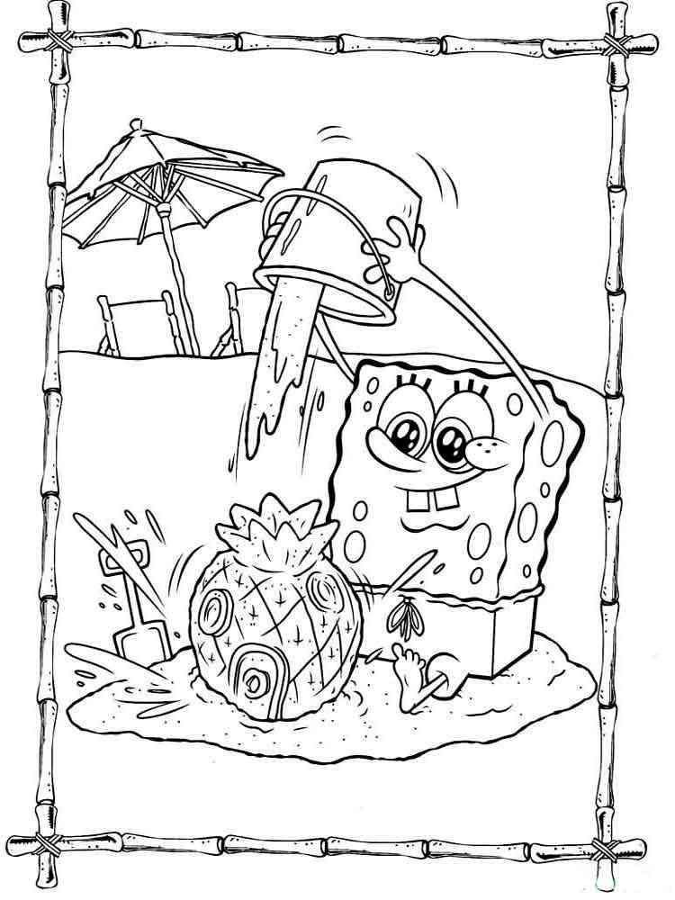 SpongeBob coloring pages. Download and print SpongeBob