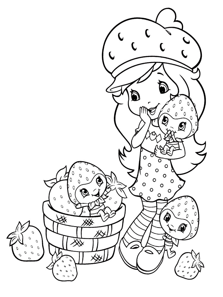 Strawberry Shortcake coloring pages. Free Printable