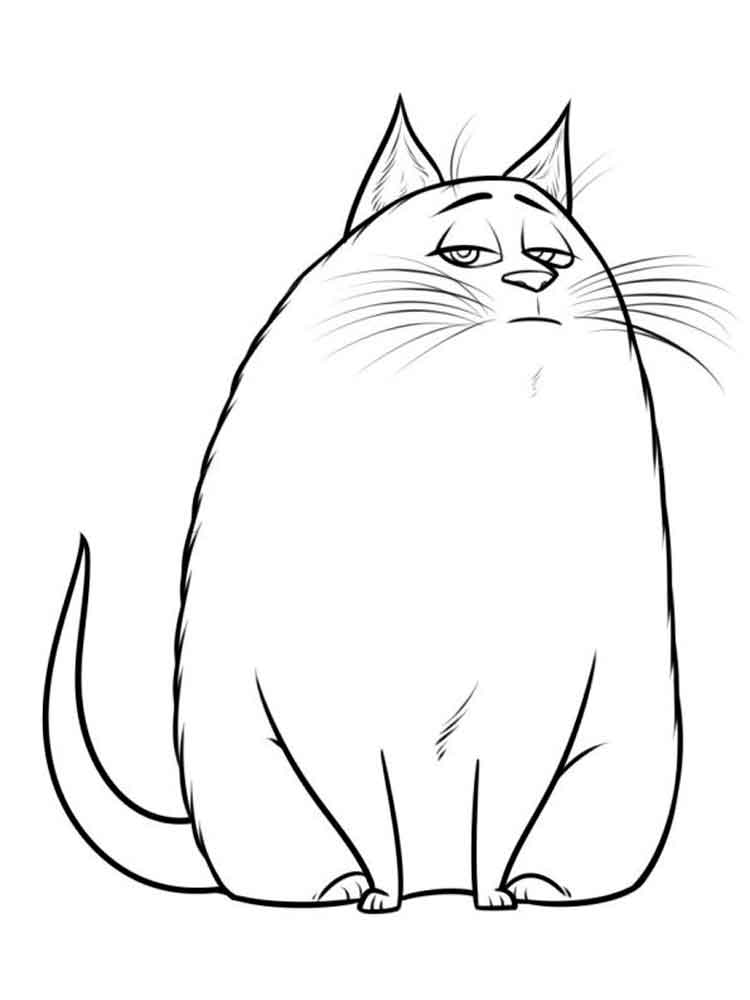 The Secret Life of Pets coloring pages. Free Printable The