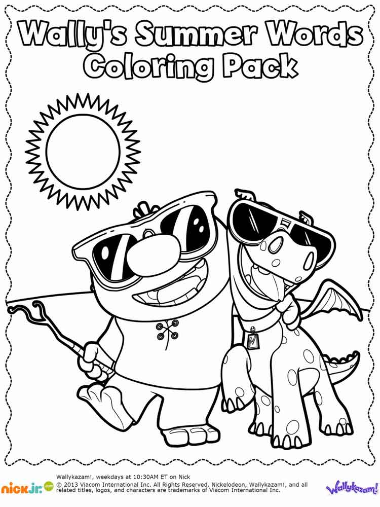 Wallykazam coloring pages. Free Printable Wallykazam