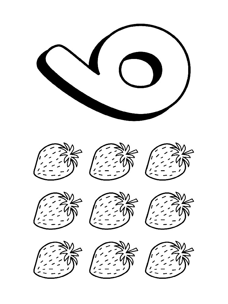 123 Numbers coloring pages. Download and print 123 Numbers