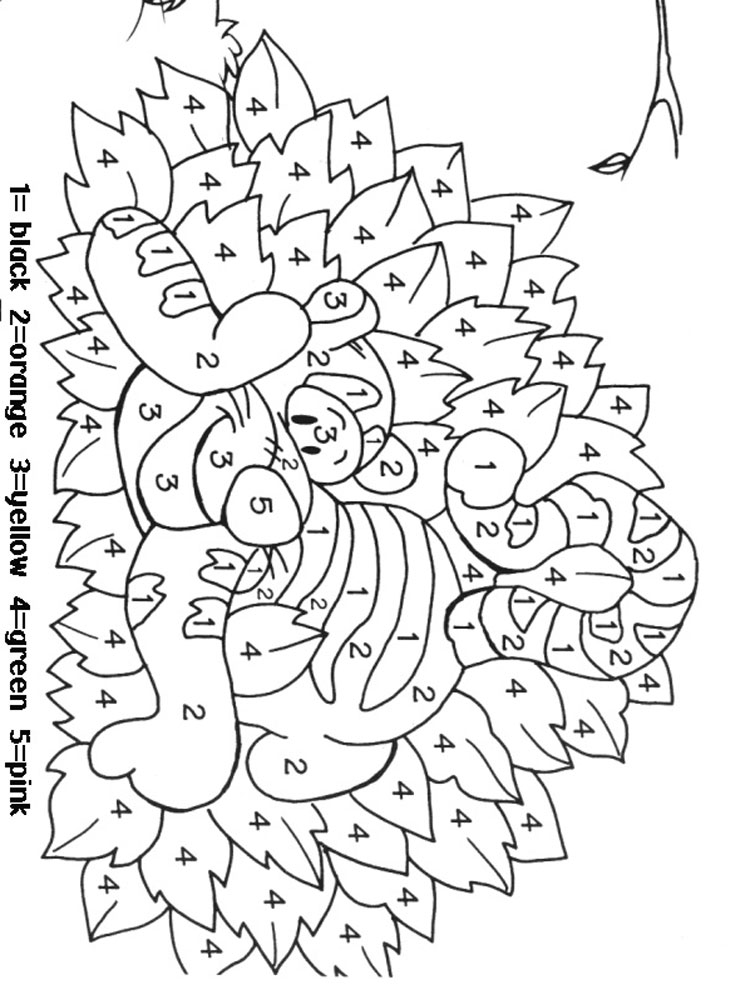 Color by Numbers coloring pages. Download and print Color