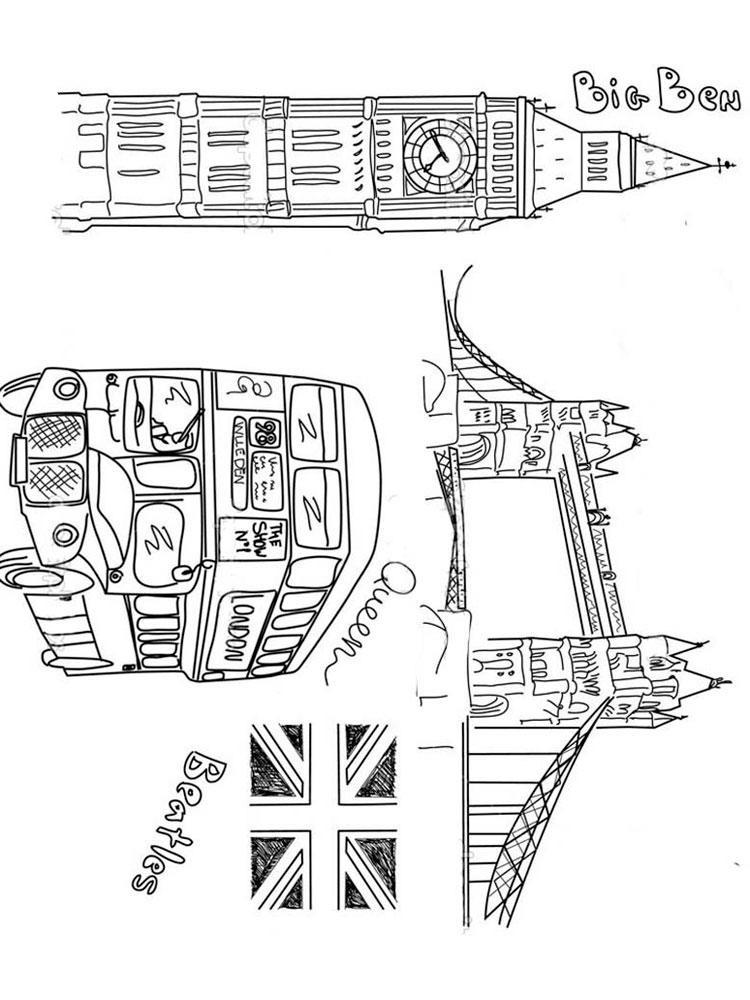 United Kingdom coloring pages. Download and print United