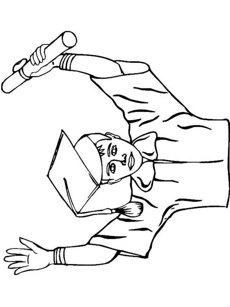 Graduation Sheets Coloring Pages