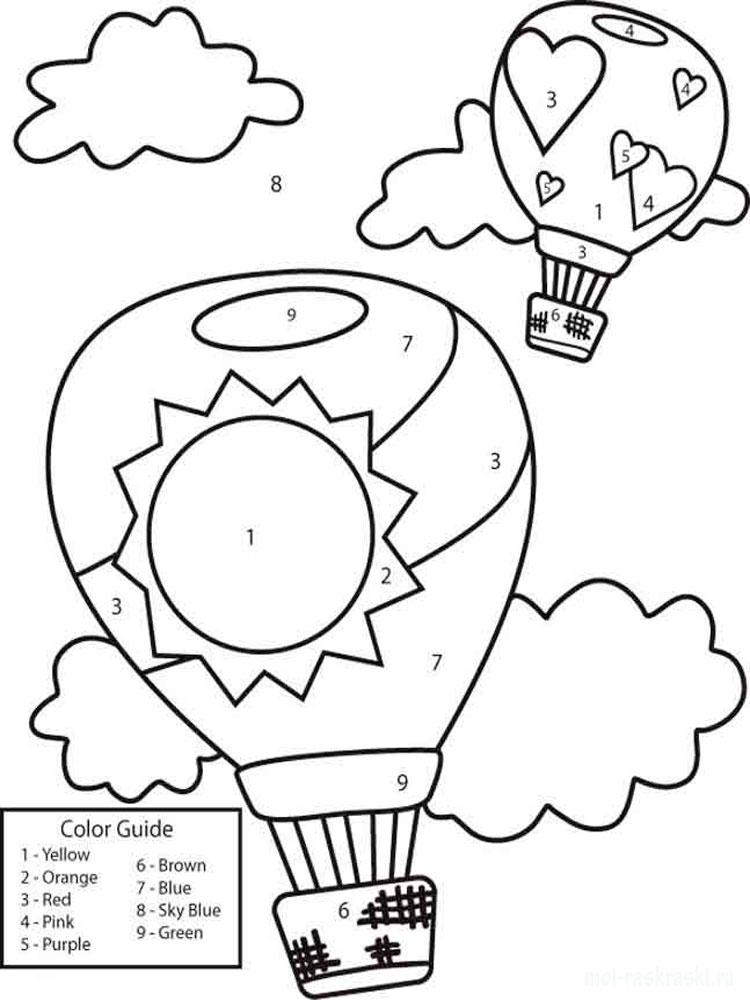 Learning Colors coloring pages. Download and print