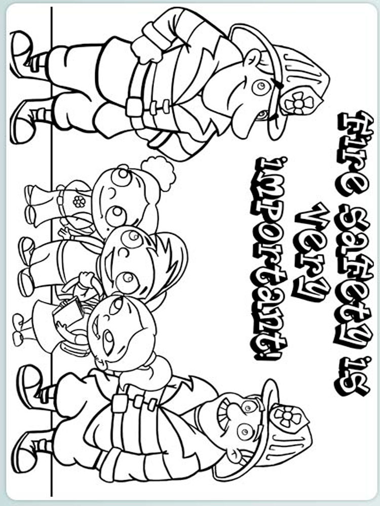 Safety coloring pages. Download and print Safety coloring