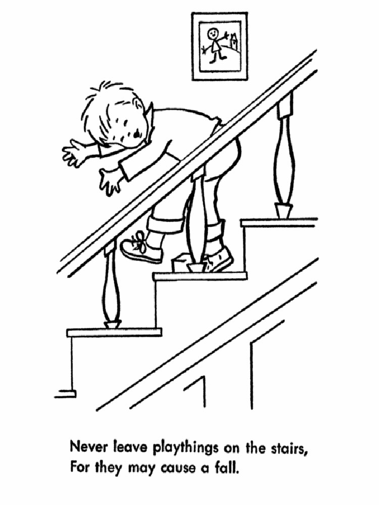 Electrical Safety Coloring Pages Sketch Coloring Page
