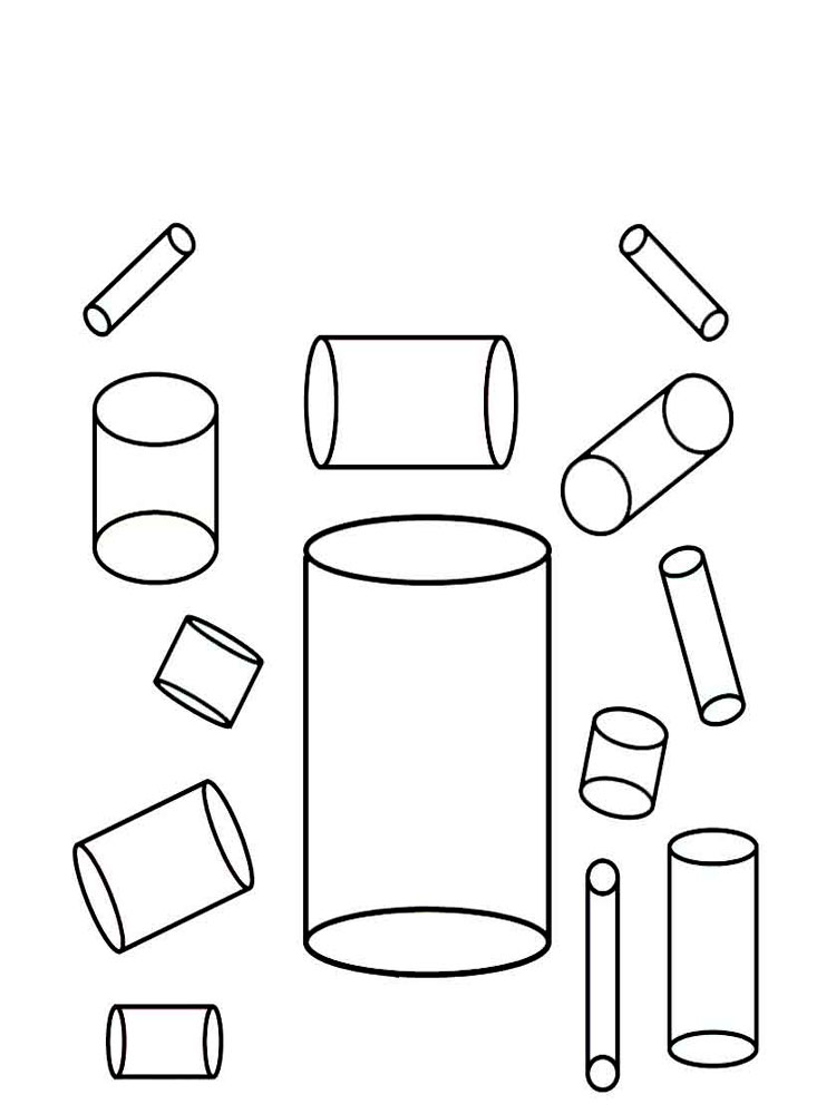 Shapes coloring pages. Download and print Shapes coloring