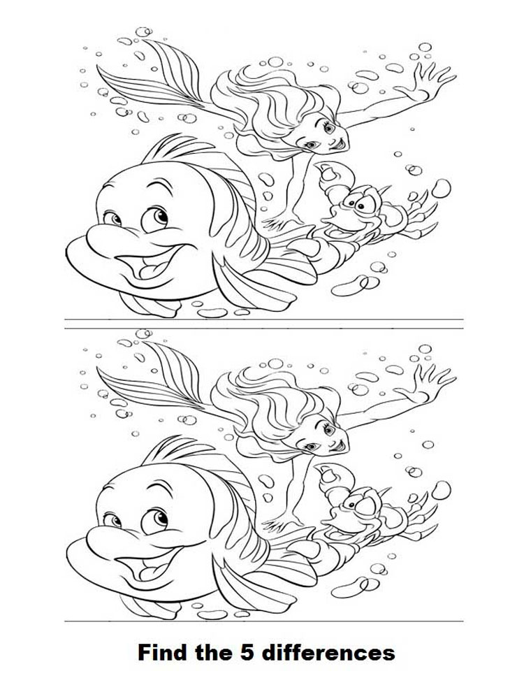 Spot the Difference coloring pages. Download and print