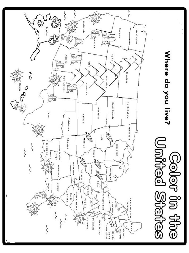 State Map coloring pages. Download and print State Map