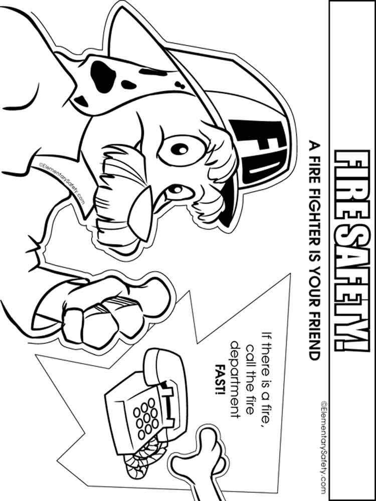 Fire Safety coloring pages. Free Printable Fire Safety