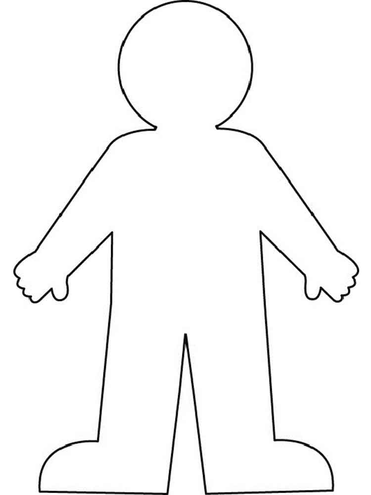 Human Body coloring pages. Free Printable Human Body