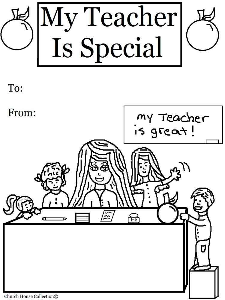 Teacher Appreciation coloring pages. Free Printable