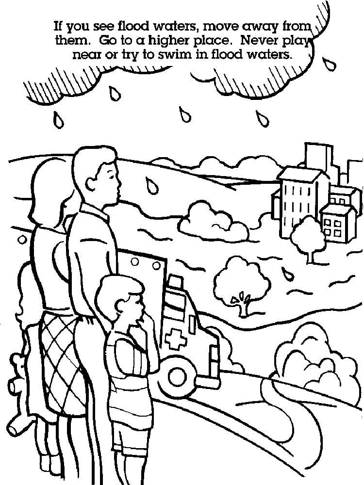 Water Safety coloring pages. Free Printable Water Safety