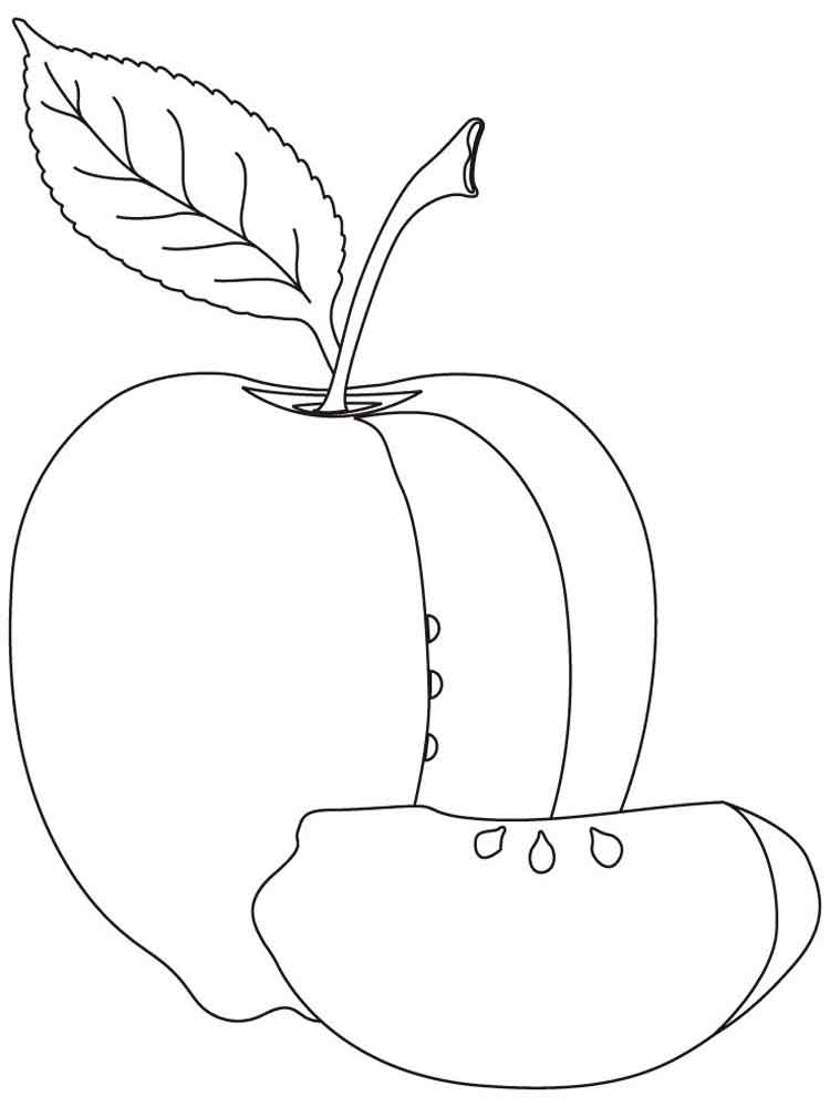 Apple coloring pages. Download and print Apple coloring pages.