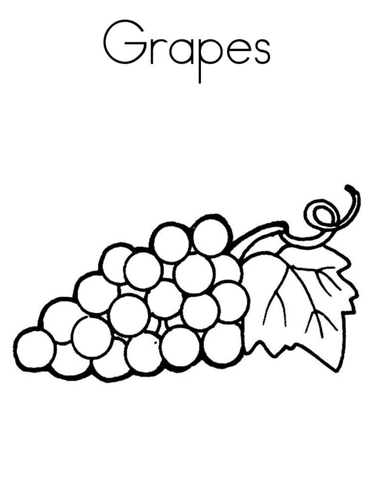 Grape coloring pages. Download and print Grape coloring pages.