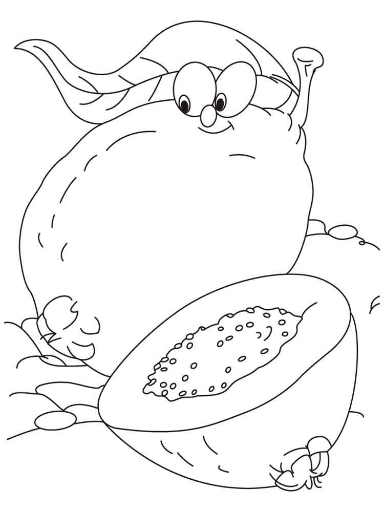 Guava coloring pages. Download and print Guava coloring pages.