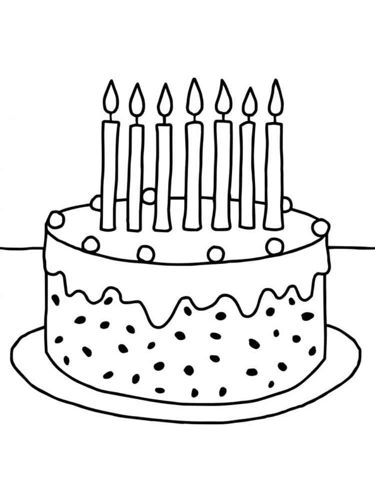 Other Printable Cake Coloring Pages Tone Sketch Coloring Page