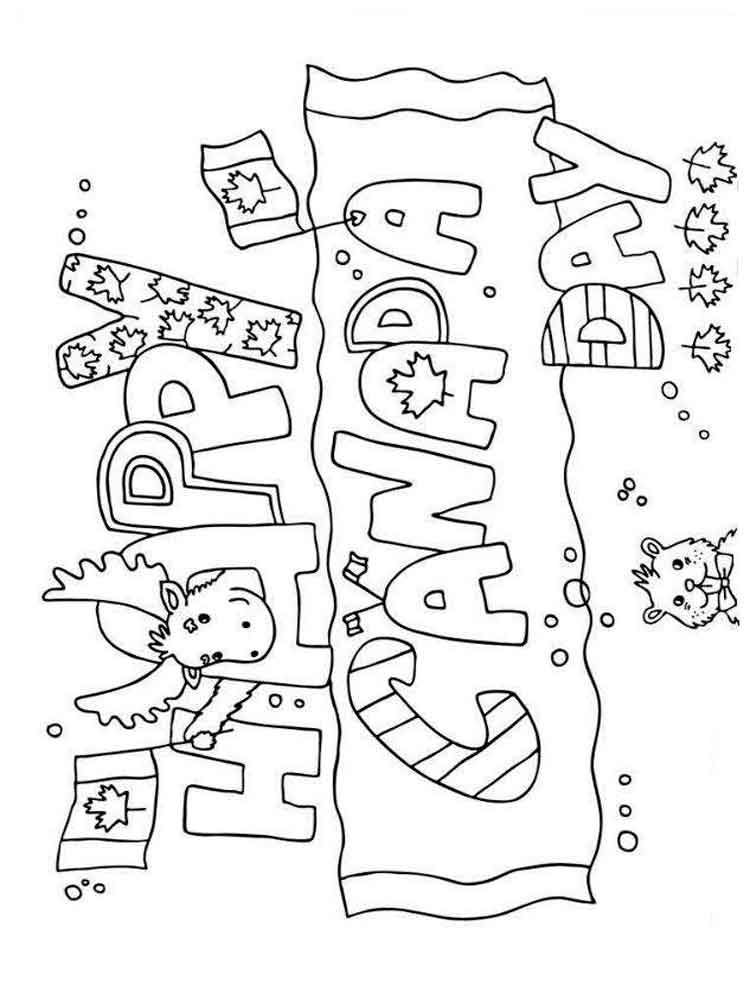 Canada Day coloring pages. Free Printable Canada Day