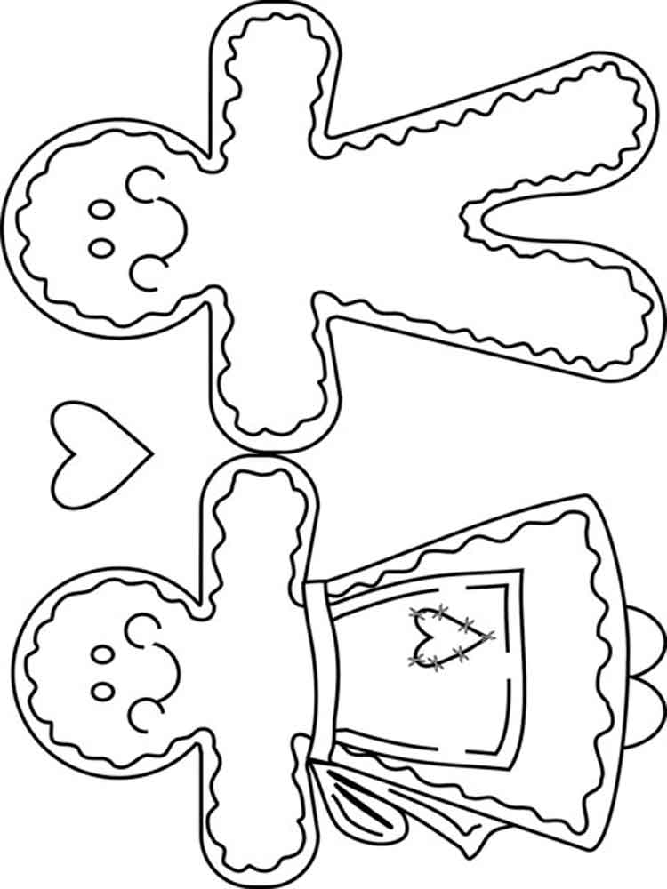 christmas gingerbread coloring pages. free printable