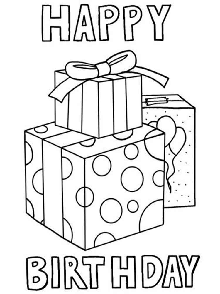 Happy Birthday Mom coloring pages. Free Printable Happy