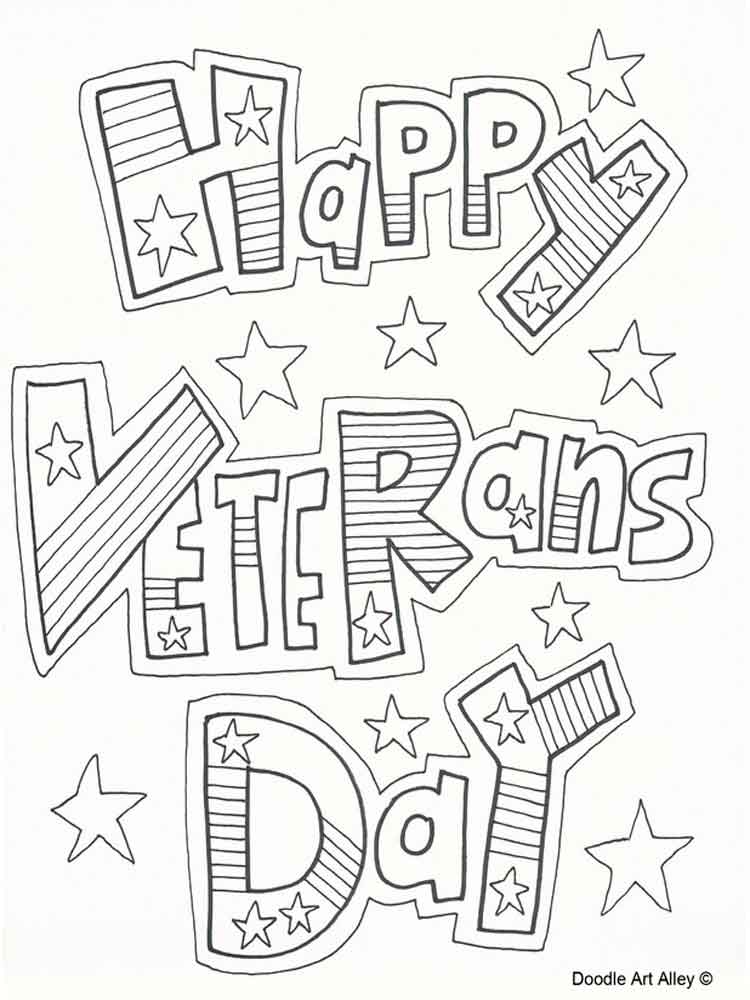 Veterans Day coloring pages. Free Printable Veterans Day