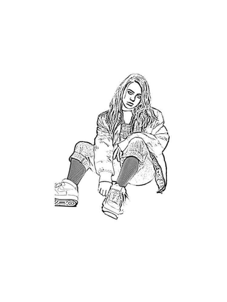 billie eilish coloring pages. download and print billie
