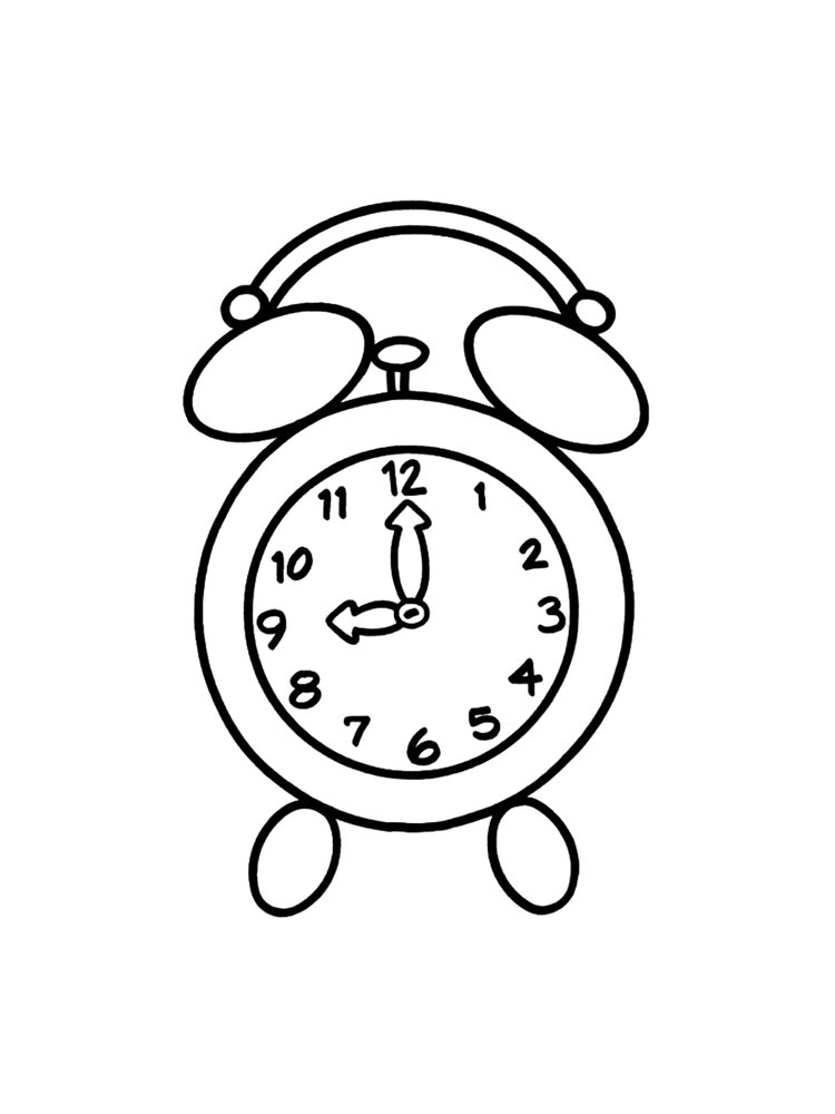 Watch and Clock coloring pages. Download and print Watch
