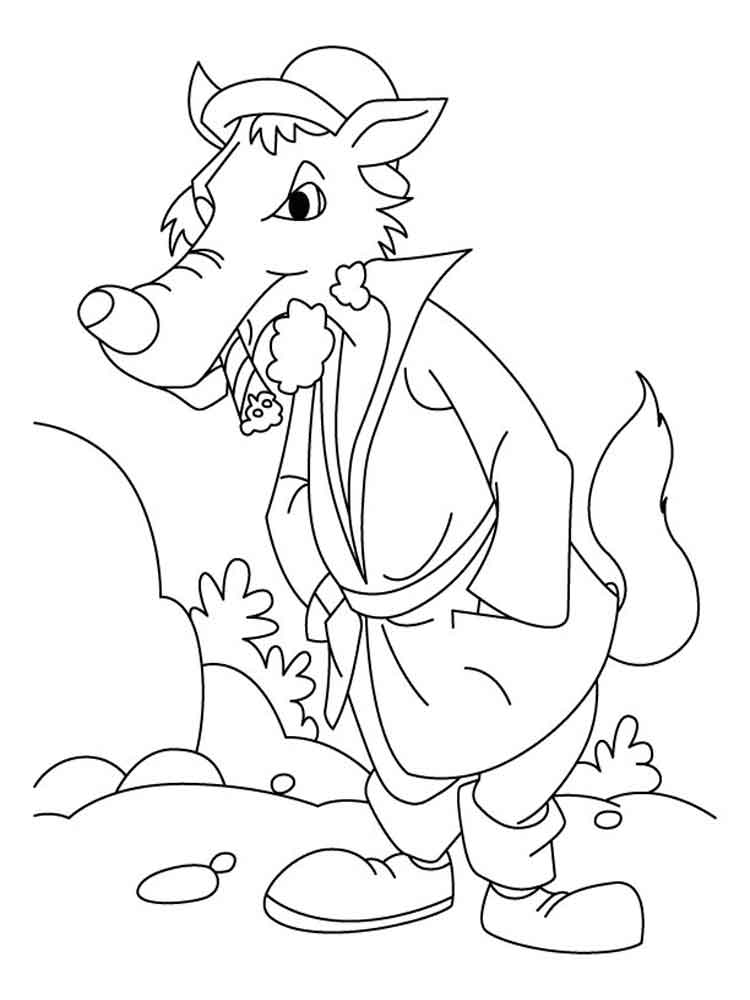 Bad Wolf coloring pages. Free Printable Bad Wolf coloring