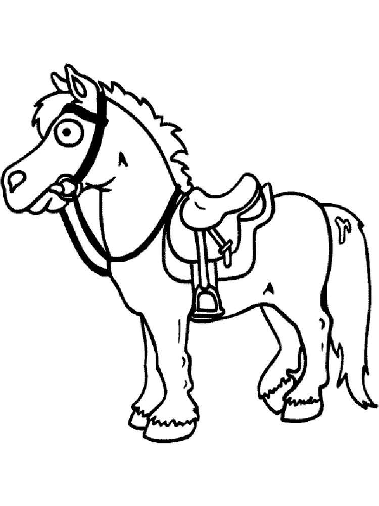 Cartoon Horse coloring pages. Free Printable Cartoon Horse