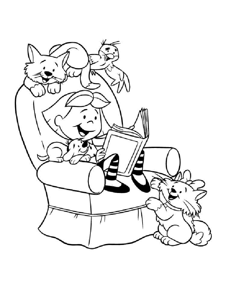 Clifford coloring pages. Free Printable Clifford coloring