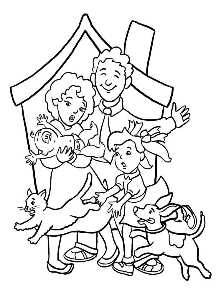 Family coloring pages. Download and print Family coloring