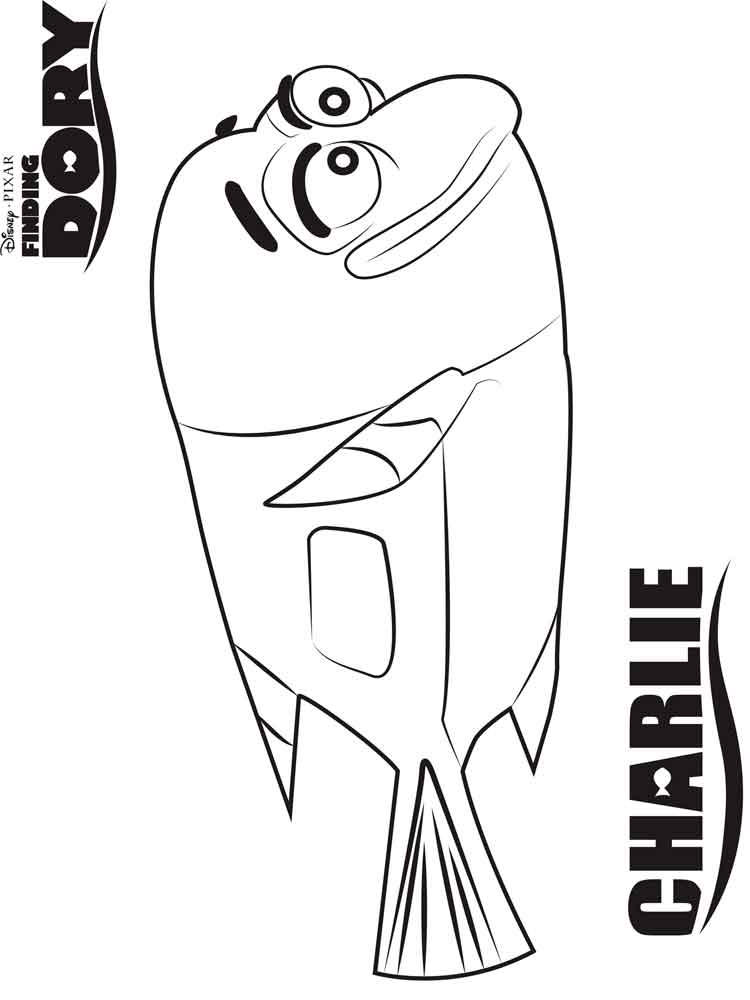 Finding Dory coloring pages. Free Printable Finding Dory
