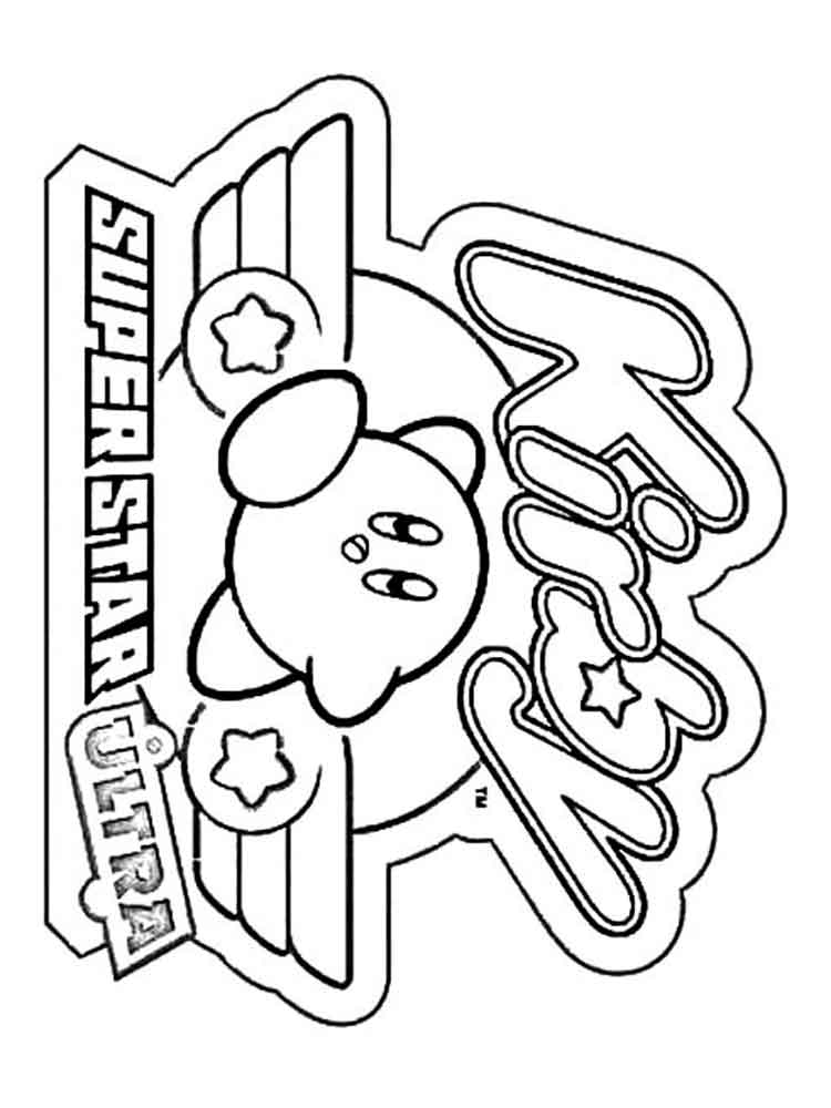 Kirby coloring pages. Free Printable Kirby coloring pages.